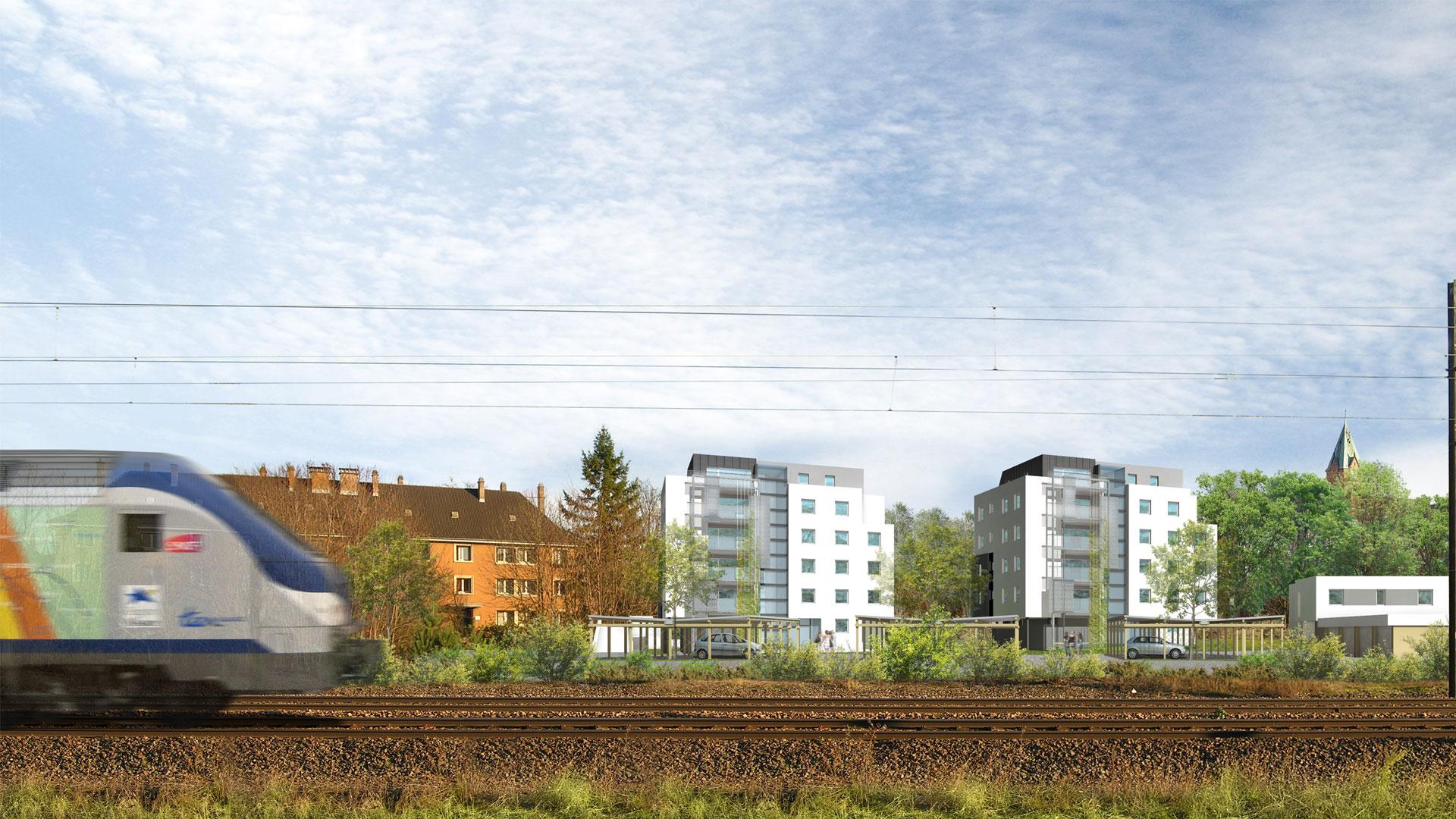logements ICF Nord-Est à Koenigshoffen - photo - L.Matagne