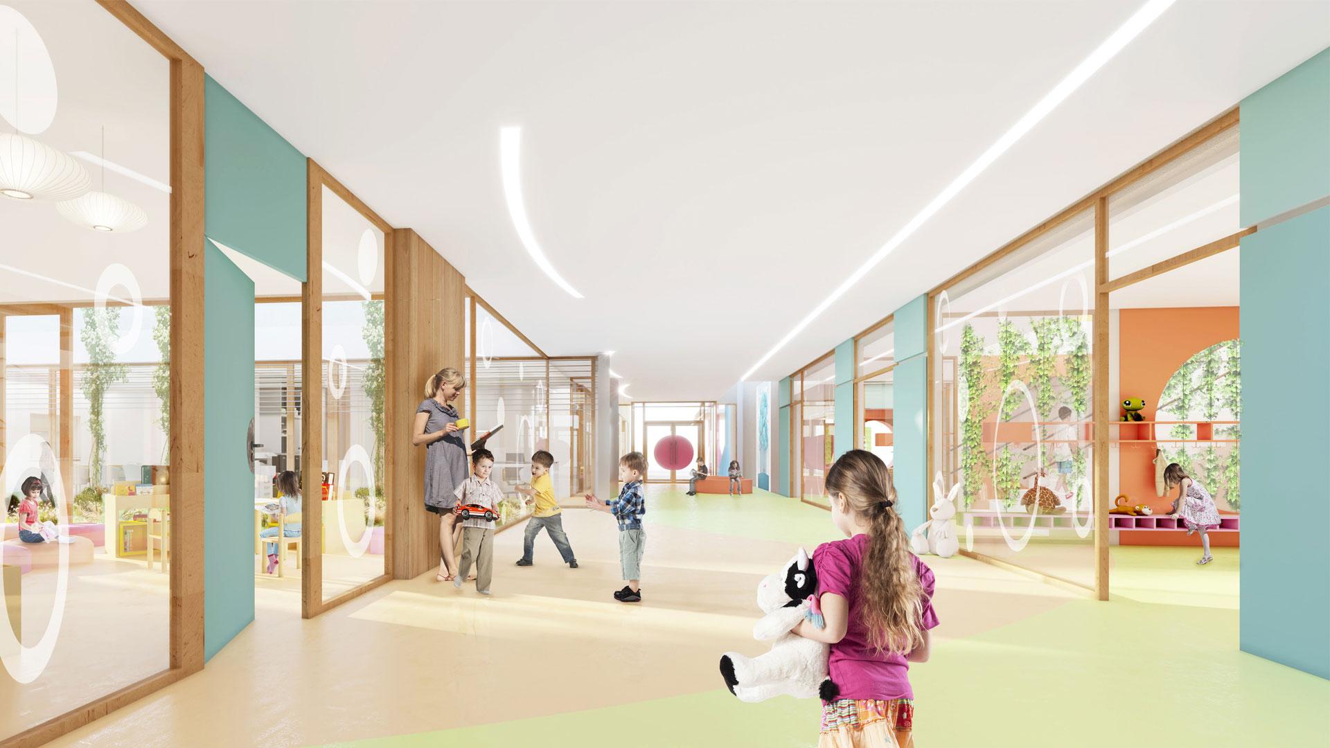 école maternelle à Eckbolsheim - photo A.Brion