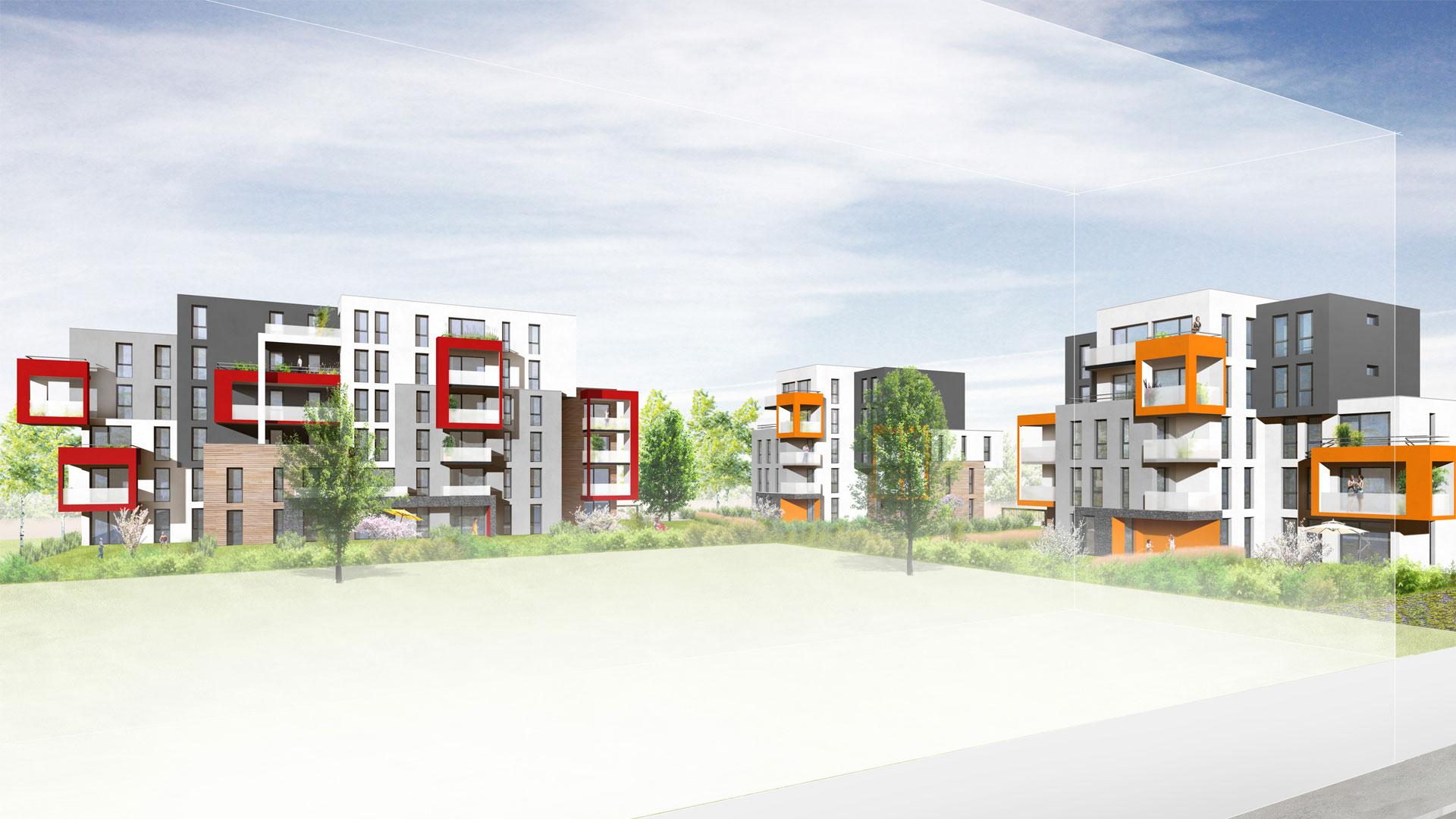 logements Habitat de l'Ill à Lingolsheim - photo L. Matagne