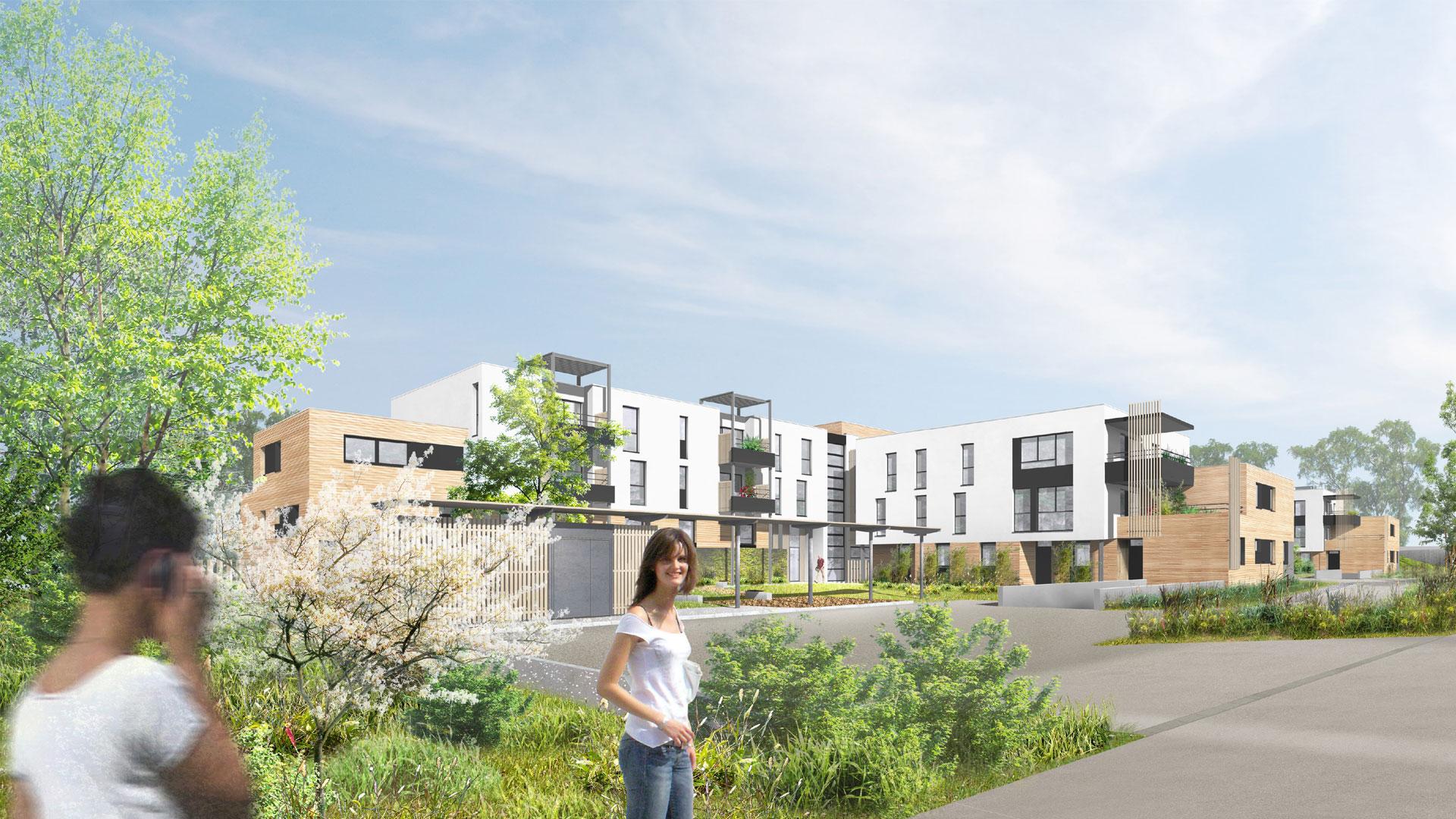 logements CUS Habitat à Lingolsheim - photo L. Matagne
