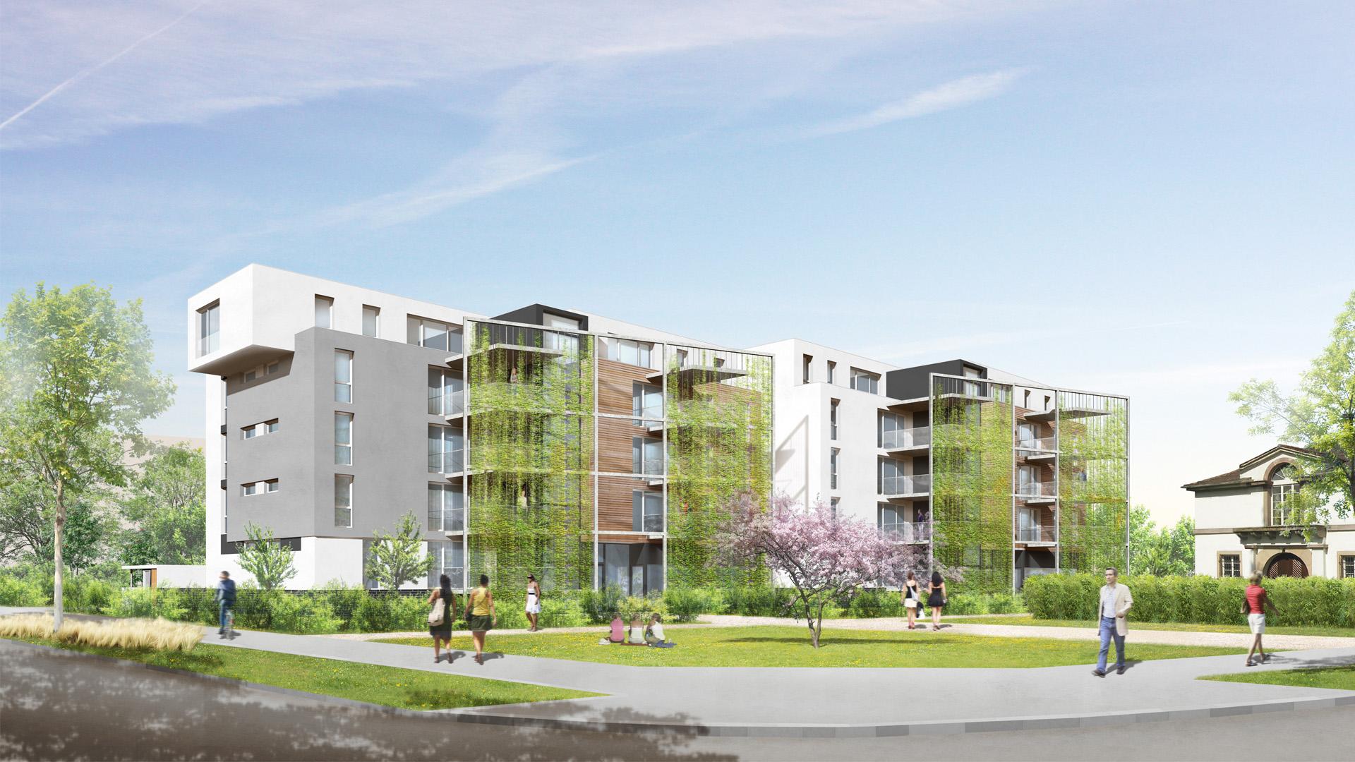 logements ICADE à la Meinau - photo L. Matagne